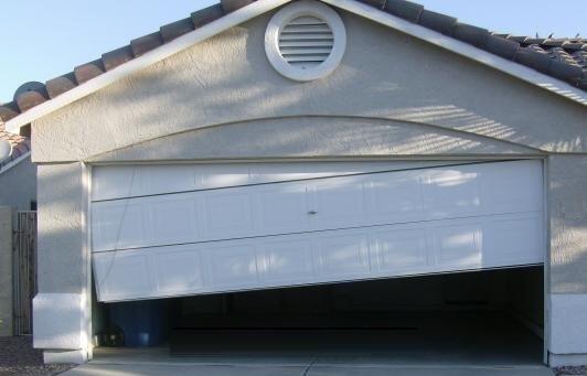 repair garage door off track